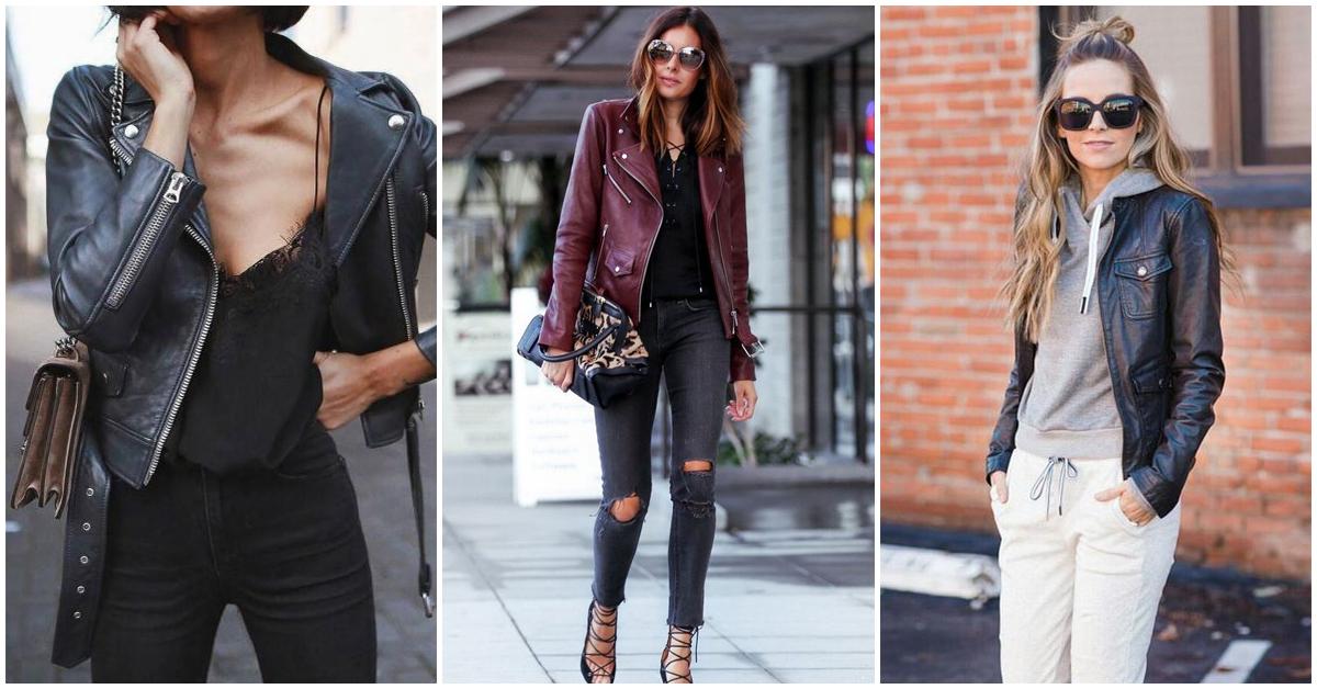 20 formas de usar una leather jacket para lucir más sofisticada